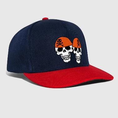 team couple 2 friends duo captain sailor pirate lake - Snapback Cap