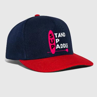 Stand Up Paddle Girl Frau Lady Pink - Snapback Cap