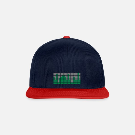 Hardstyle Caps & Hats - Amplifier Amplifier Volume Volume graphically 2c - Snapback Cap navy/red