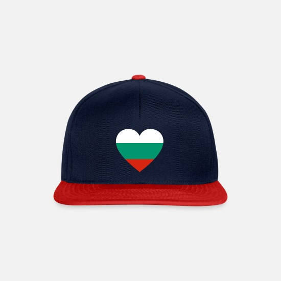 Bulgaria Caps & Hats - Love love gift Bulgaria Bulgaria - Snapback Cap navy/red