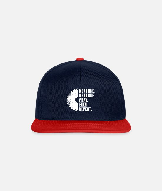 Crafting Caps & Hats - Measure - Measure - Pray - Cut - Repeat - Snapback Cap navy/red
