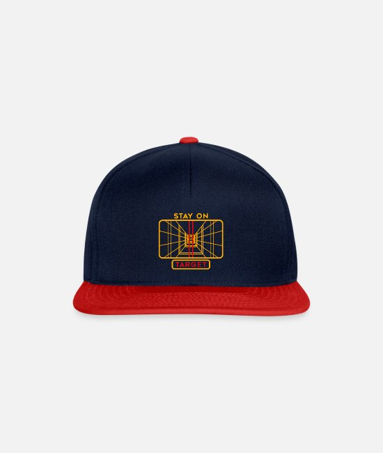Wing Caps & Hats - STAY ON TARGET 1977 TARGETING COMPUTER - Snapback Cap navy/red