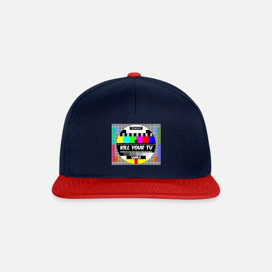 Tv Caps & Hats - kill your tv - Snapback Cap navy/red