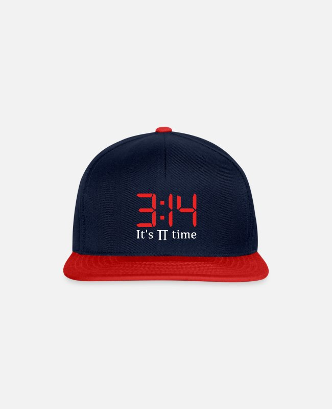 Klug Caps & Mützen - It's pi time (digital) - Snapback Cap Navy/Rot