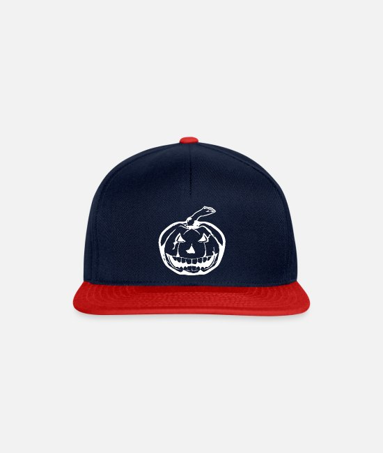 White Caps & Hats - White Pumpkin - pumpkin white - Snapback Cap navy/red