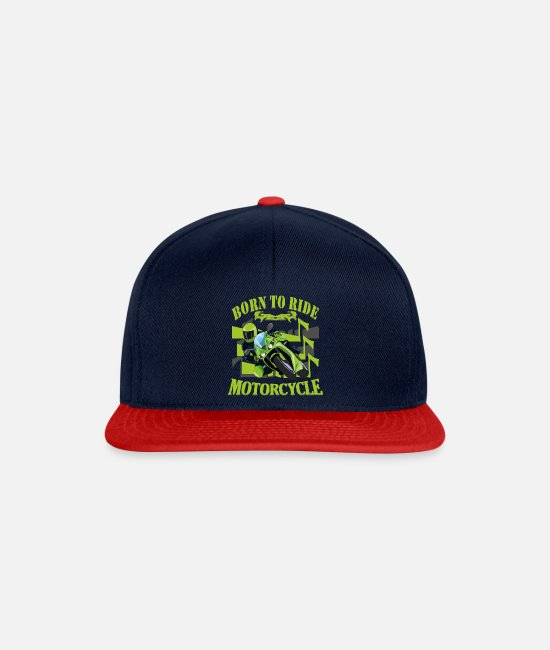 Wheel Caps & Hats - Motorbike biker - Snapback Cap navy/red
