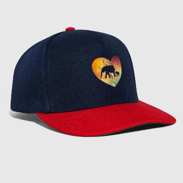 I Love Retro Retro Elephant Lover - Snapback-caps