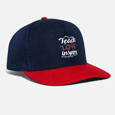 Taille Enseigner l'amour Inspire Teacher School Student Love New - Casquette snapback