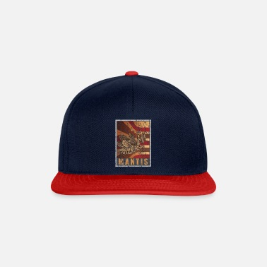 Trendy Retro Bønn Mantis Plakat Distressed Look - Snapback-caps
