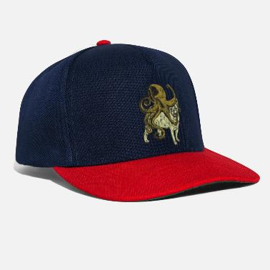 Cinese Pug incontra Octopus Used Look - Snapback Cap