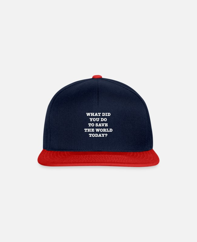 Pollution Caps & Hats - save the world - Snapback Cap navy/red