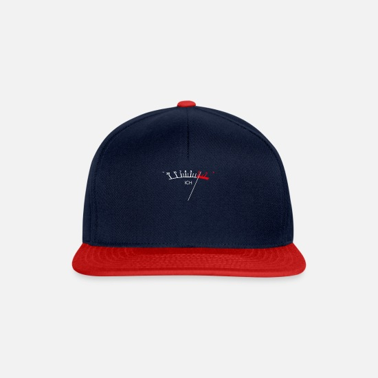 Engineer Caps & Hats - The analogue mood-meter as with hi-fi systems - Snapback Cap navy/red