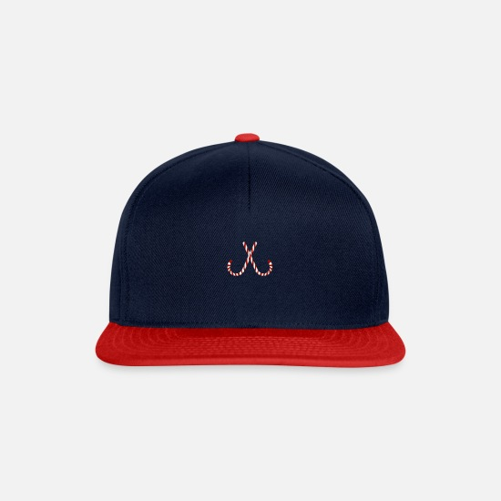 Candy Cane Caps & Hats - Christmas breasts candy canes gift girls - Snapback Cap navy/red