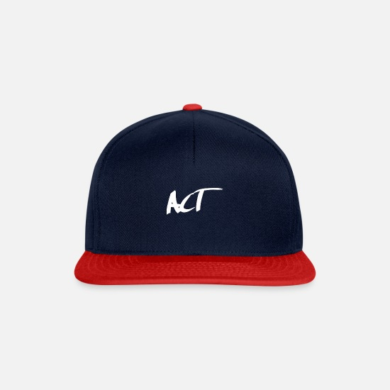 Nature Conservation Caps & Hats - Act - do what! - Snapback Cap navy/red