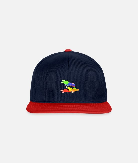 Game Caps & Mützen - ShirtActs Gaming splash - Snapback Cap Navy/Rot
