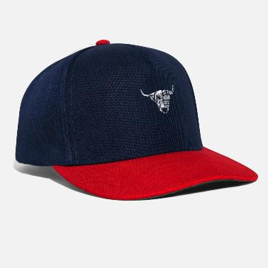 Zwei Highland Cattle Illustration Hochlandrind - Snapback Cap