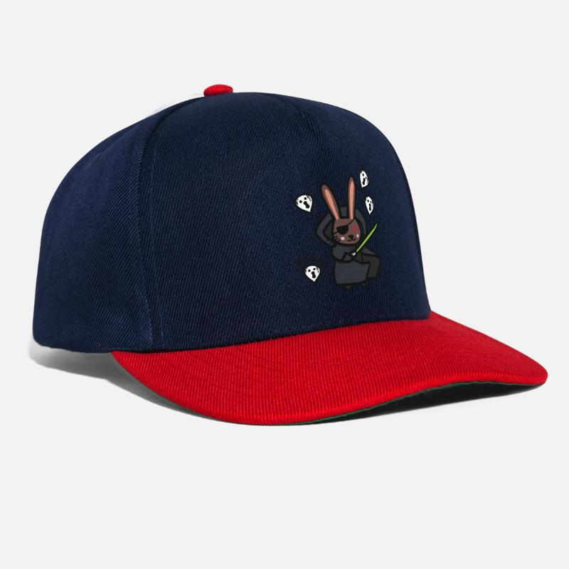 Darth Caps   Hats - Happy Halloween Darth Vader rabbit - Snapback Cap navy  red 99b66b06e174