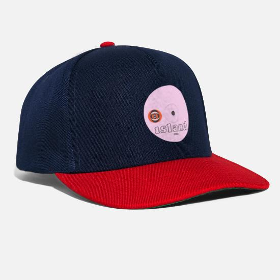 Record Caps & Hats - Iceland pink label1 - Snapback Cap navy/red