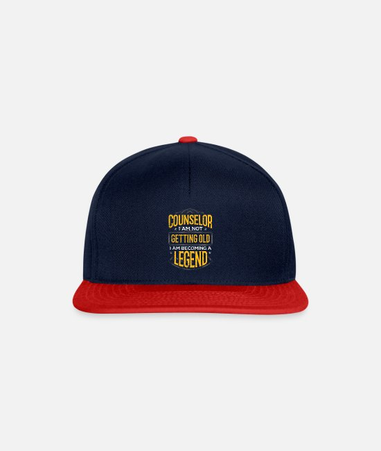 Psychologist Caps & Hats - Counselor Gift Idea Counselor I Am Not Getting - Snapback Cap navy/red