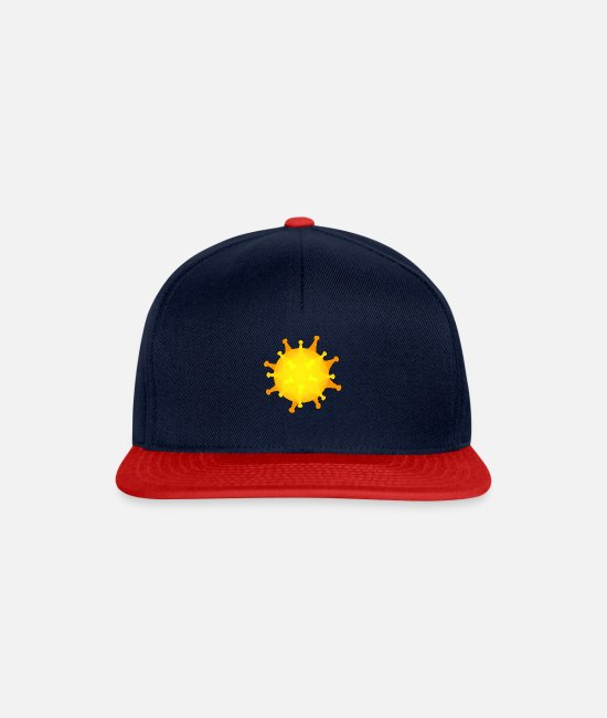 Infection Caps & Hats - Virus yellow - Snapback Cap navy/red
