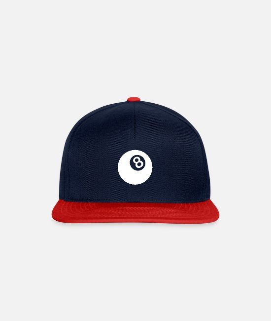Play Caps & Hats - Billiards 8 1 - Snapback Cap navy/red