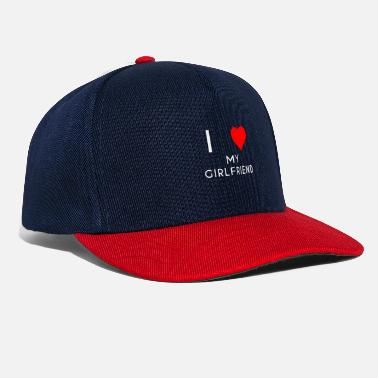 I Love My Girlfriend I LOVE MY GIRLFRIEND vriendin motief - Snapback cap