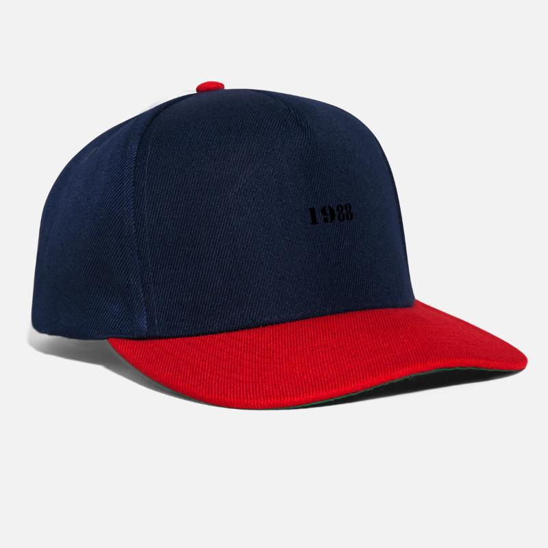 Birth Caps & Hats - 1988 year of birth - Snapback Cap navy/red