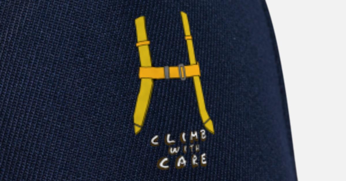 Klettergurt Größentabelle : Klettern mit einem klettergurt snapback cap spreadshirt