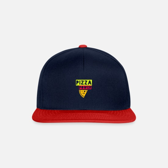 Mummy Caps & Hats - pizza power - Snapback Cap navy/red
