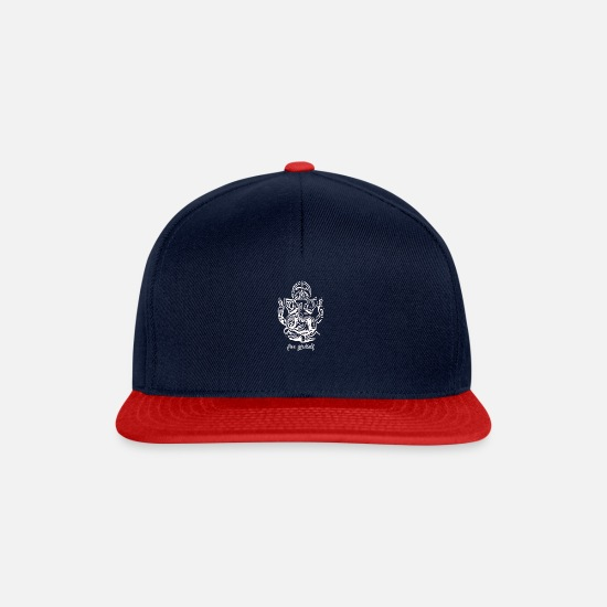 Yogi Caps & Hats - Ganesha Yoga Meditation - Snapback Cap navy/red
