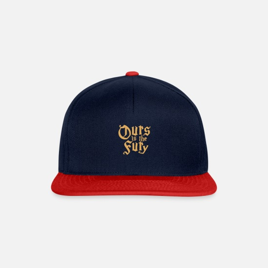 Love Caps & Hats - ours is the fury - Snapback Cap navy/red