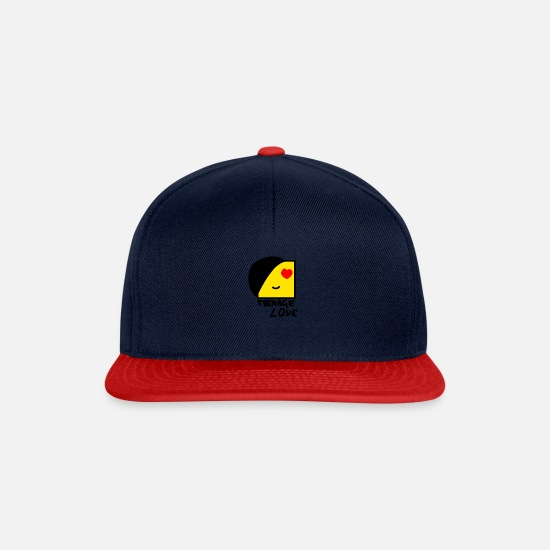 Teenager Caps & Mützen - Emo Boy: Teenager-Liebe - Snapback Cap Navy/Rot