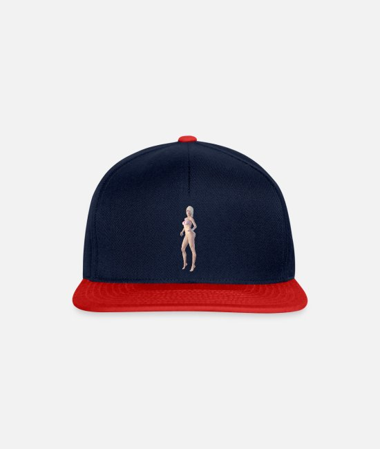 New Caps & Hats - New burlesque, sexy woman - Snapback Cap navy/red