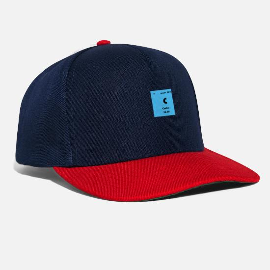 Chemistry Caps & Hats - Carbon Element Periodic Table Science Shirt - Snapback Cap navy/red