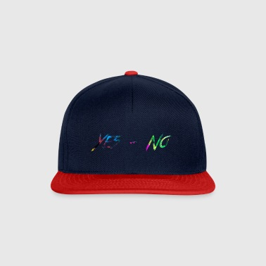 rainbow Yes-No - Snapback Cap