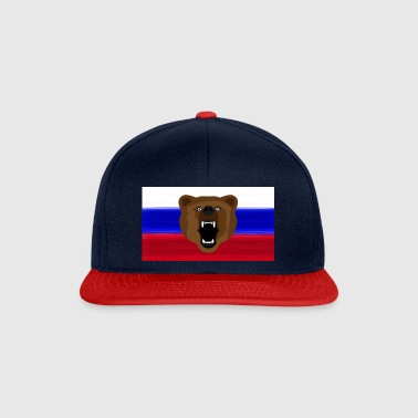 Ours russe / Russie / Россия, Rossia, drapeau - Casquette snapback