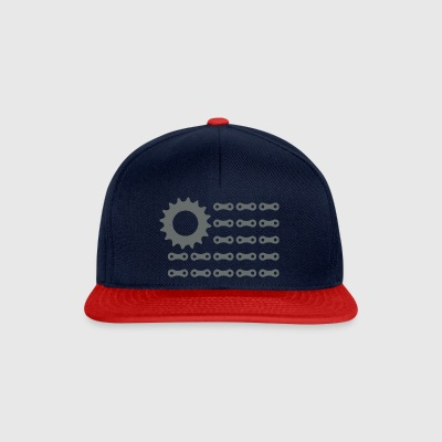Red Bike and Blue - Snapback Cap