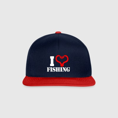 I heart fishing - Snapback Cap