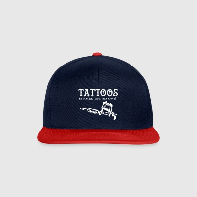 Tattoo / Tätowierung: Tattoos Makes Me Happy - Snapback Cap