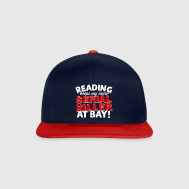 34 serial killer reading - Snapback Cap
