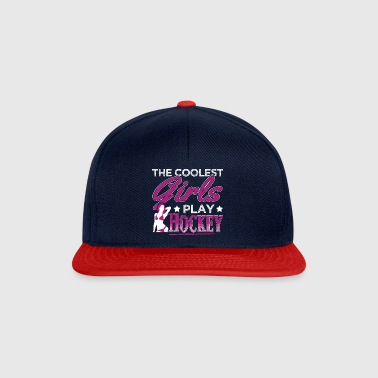 COOLEST GIRLS PLAY HOCKEY - Snapback Cap