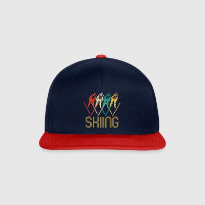 Awesome Retro Pop Art Skiing Regalos para los esquiadores. - Gorra Snapback