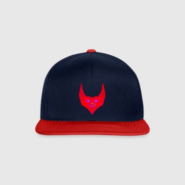 heart horns devil satan abstract - Snapback Cap