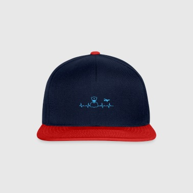 Pilot heartbeat flight fly gift airline - Snapback Cap