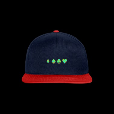 Card Game Neon Skat Poker Gift Player Heart - Snapback Cap