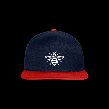 Manchester Bee (White) - Snapback Cap