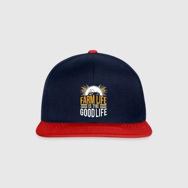 farmer - farm life is the good life - Snapback Cap