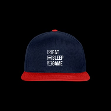 Funny Gamer Gift, Eat Sleep Game - Snapback Cap