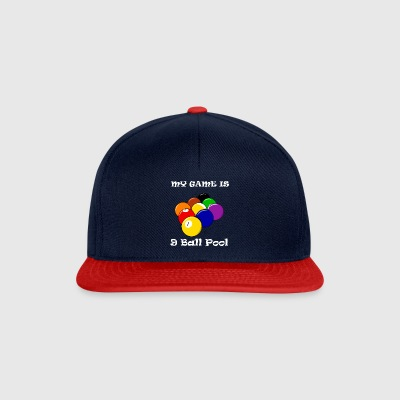 My Game Is 9 Ball Pool Shark Billiards - Snapback Cap