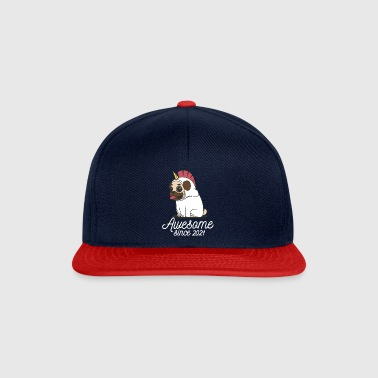 Awesome sinds 2021 | Funny Unicorn Pug - Snapback cap